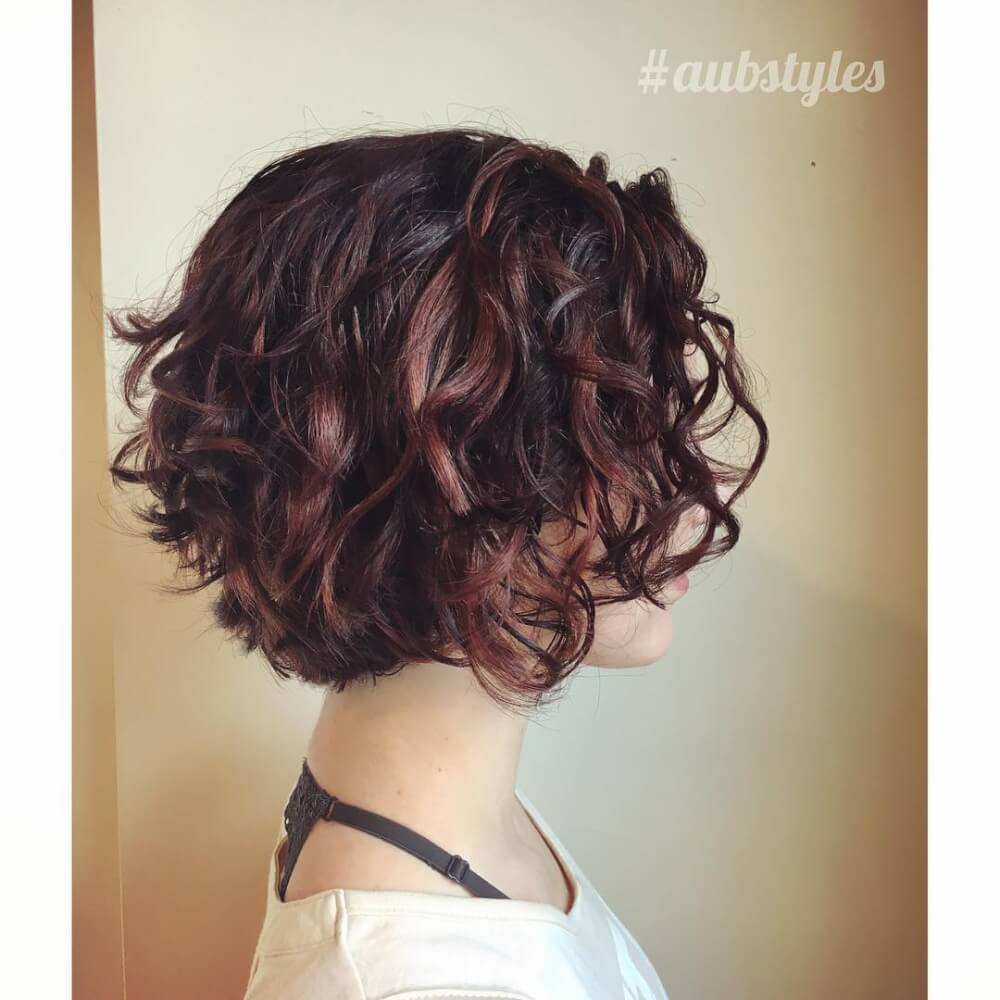 Short Curly Hair With Bangs And Layers 77