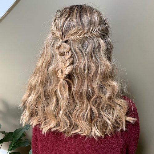 Curly Half Up Half Down