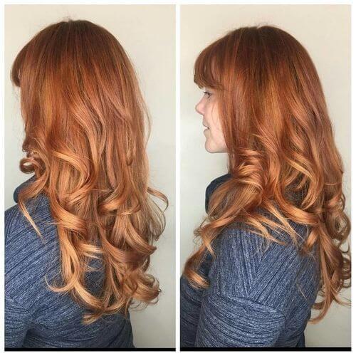 sunburst sombre red hair color