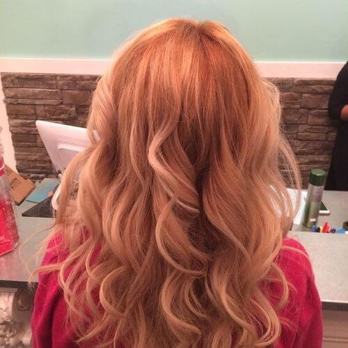 curly strawberry blonde hair
