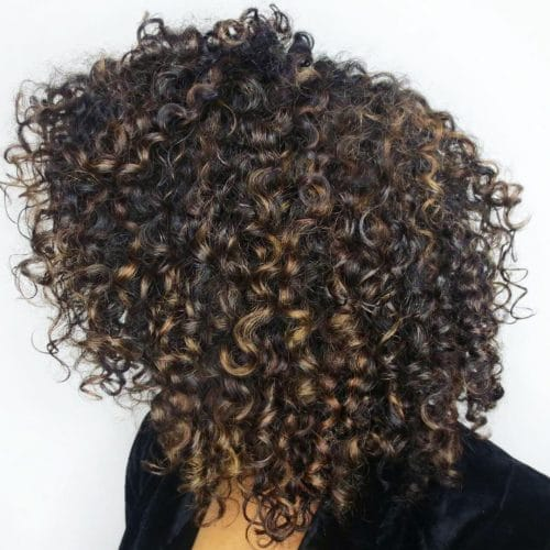 Curly Shag hairstyle