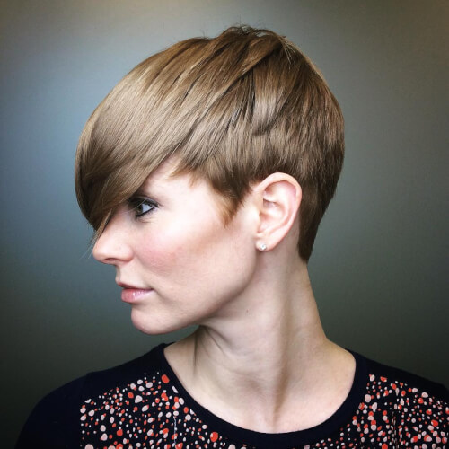 custom pixie haircut for a women over 50