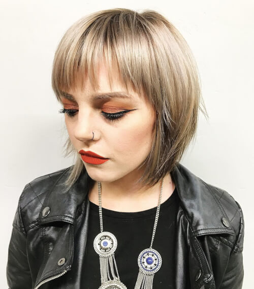 cute chic layered bob