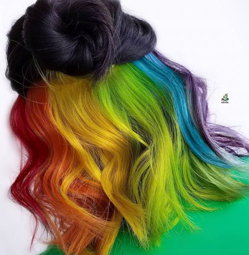 29 Stunning Rainbow Hair Color Ideas Trending In 2020