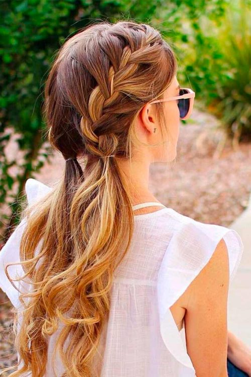 Cute french braid for long hair