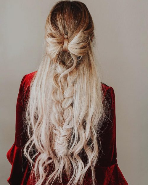 Cute Half Up Hair Bow
