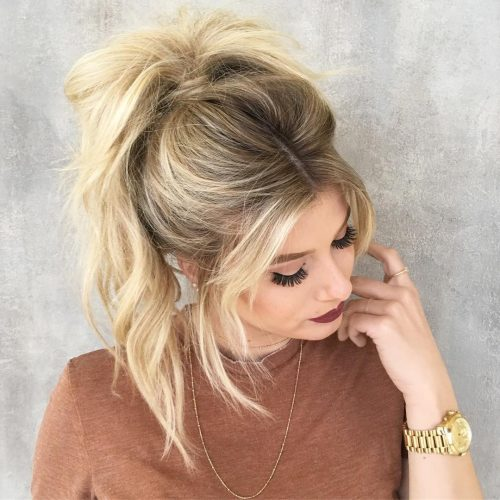 Cute Ponytail with Bangs