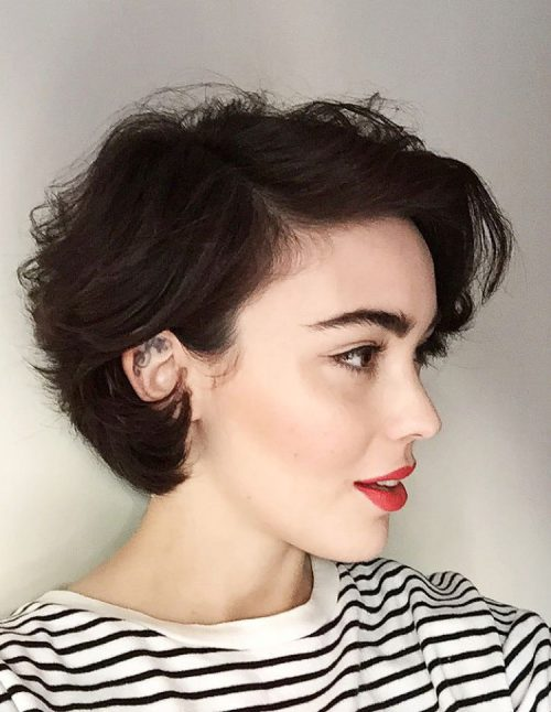 cute updo styles for short hair 43 haircuts for hair in 2019 8627 | cute short chic waves haircut 500x646