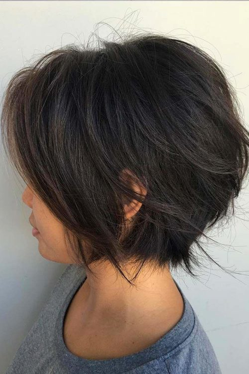 cute short chin length layered haircut