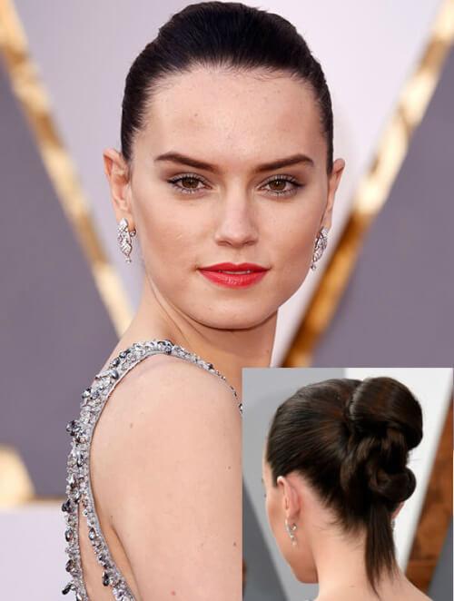 Daisy Ridley Oscars Hairstyle 2016