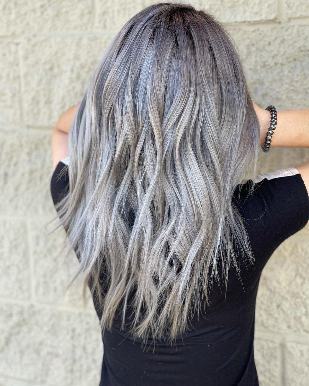 dark ash blonde on grey hair