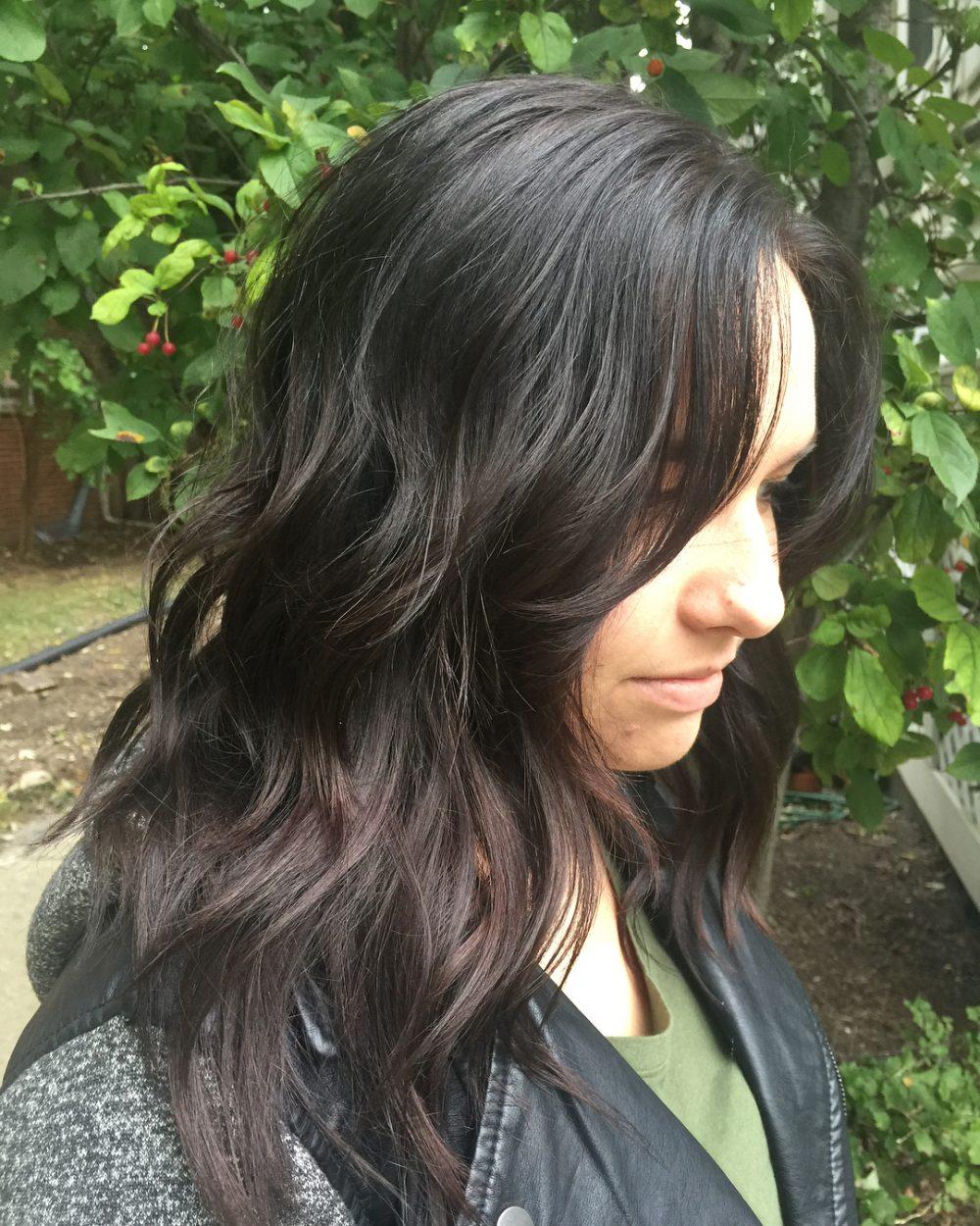 Dark Ash Brunette hairstyle