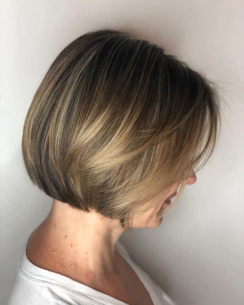Темная блондинка на темно-каштановых волосах