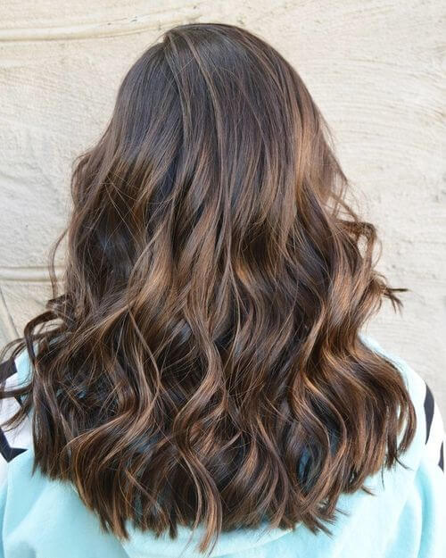 dark brown balayage color