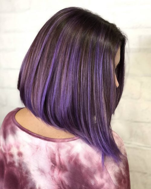 21 Purple Highlights Trending In 2021 To Show Your Colorist
