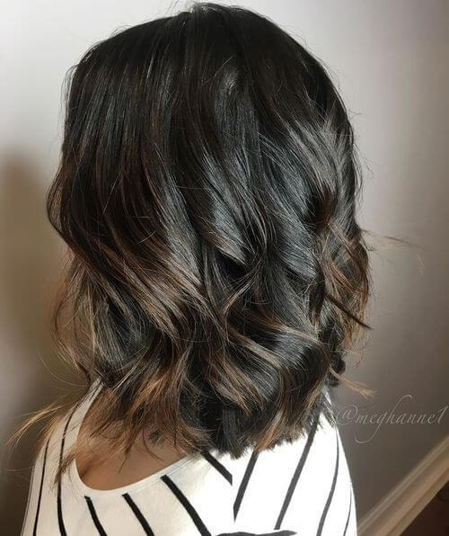Ombre for dark hair color and dark skin