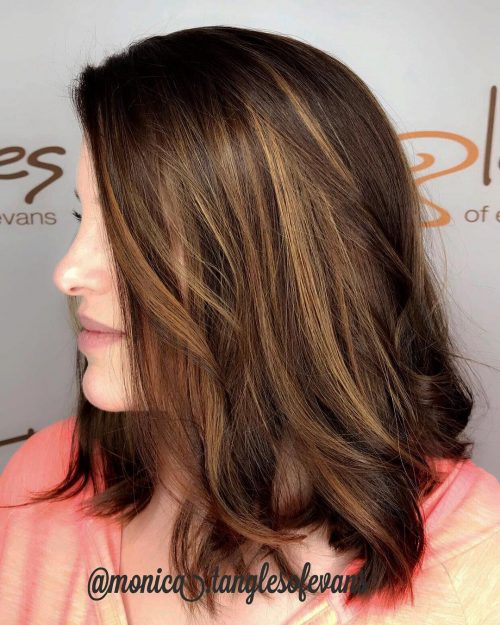 41 Incredible Dark Brown Hair With Highlights Trending For 2019