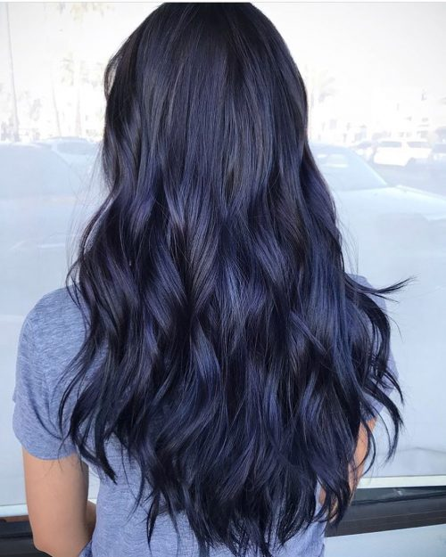 Dark Blue Hair Trend 14 Awesome Examples To Consider In 2019
