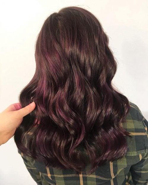 These 19 Dark Purple Hair Color Ideas