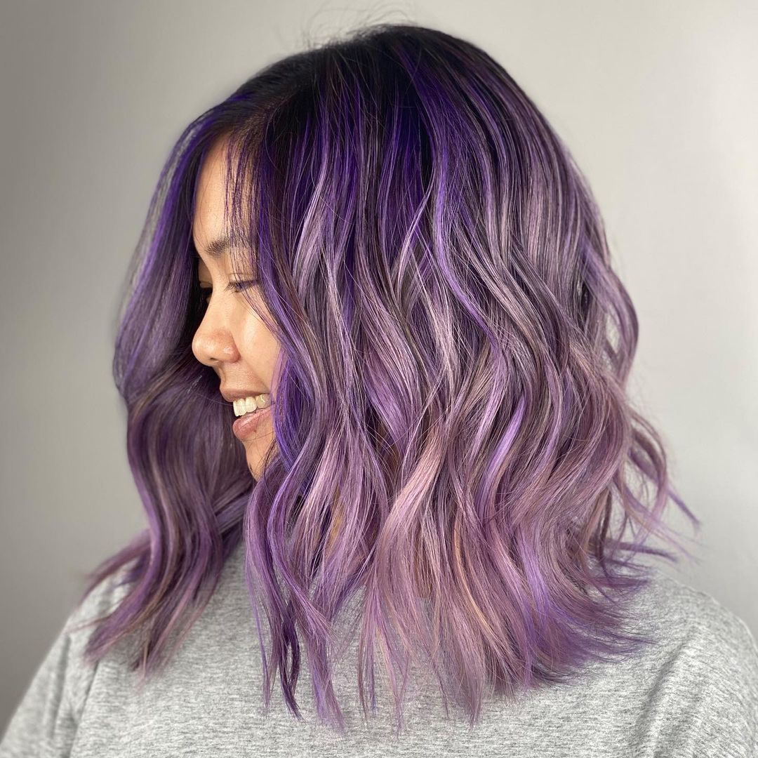 21 Dark Purple Hair Color Ideas Trending In 2021