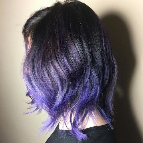 From black to purple hair