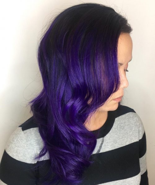 Dark Purple Ombre hair color