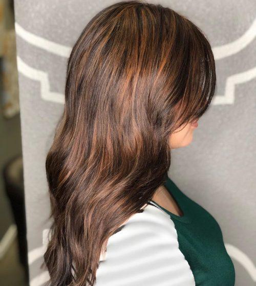 dark red hair with auburn highlights