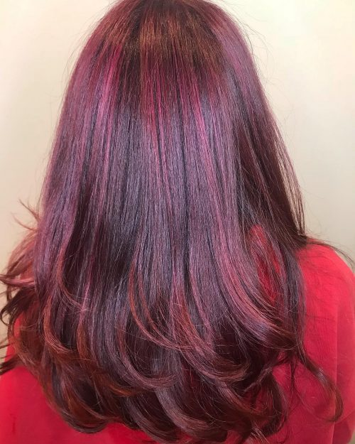 22 Hottest Red Purple Hair Colors Balayage Ombres And Highlights