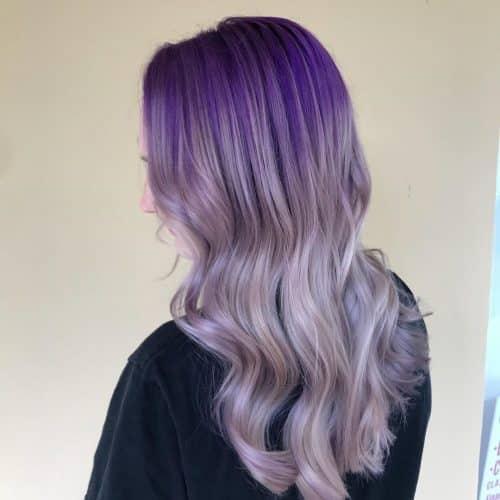 Dark to Light Purple Ombre hair