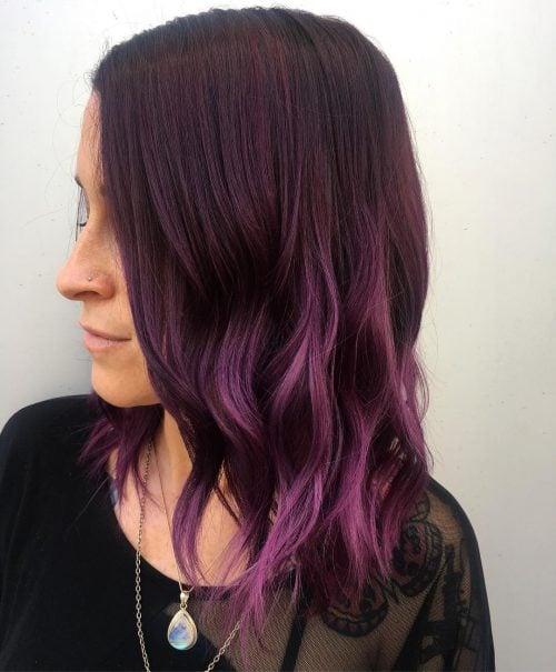 21 Dark Purple Hair Color Ideas Trending In 2020