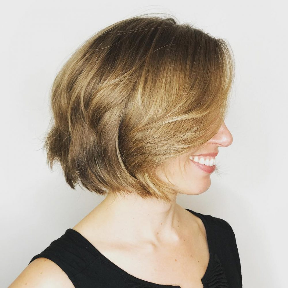 Deconstructed Bob hairstyle
