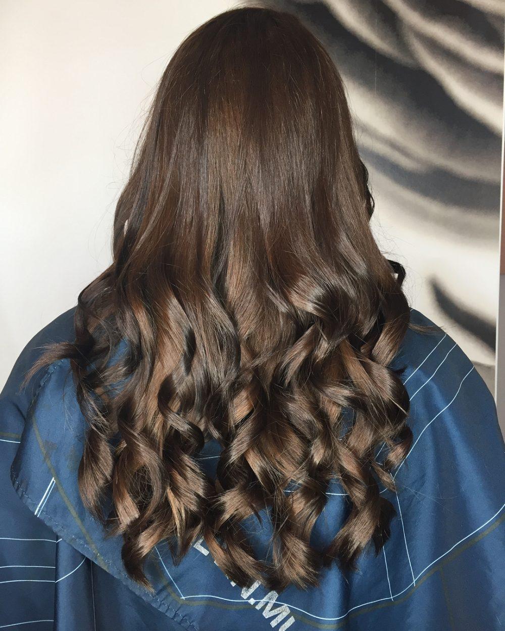 Deep Chestnut Brown hairstyle