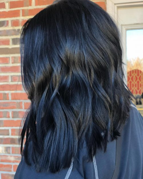 dark midnight blue hair 16 stunning midnight blue hair colors to see in 2020