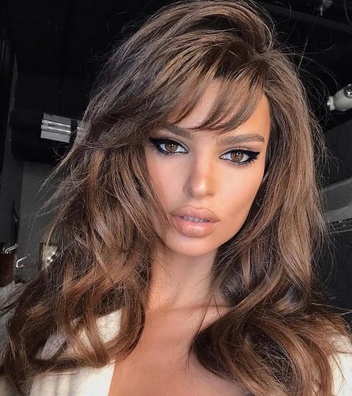 18 Best Examples Of Long Hair With Side Bangs