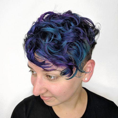 Denim Blue and Dark Purple