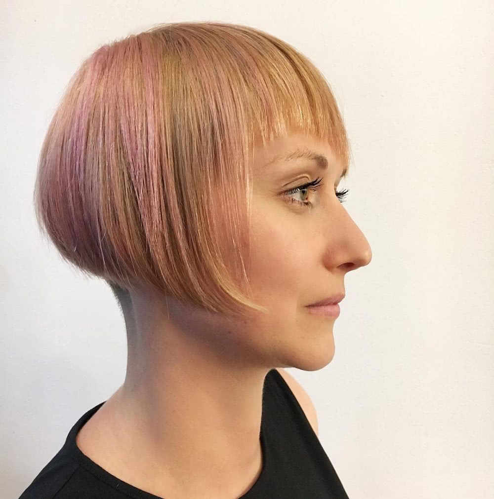 Diagonal Fringe & Disconnected Undercut hairstyle