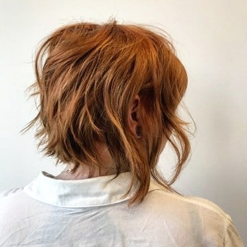 Diagonal Forward Asymmetrical Bob hairstyle