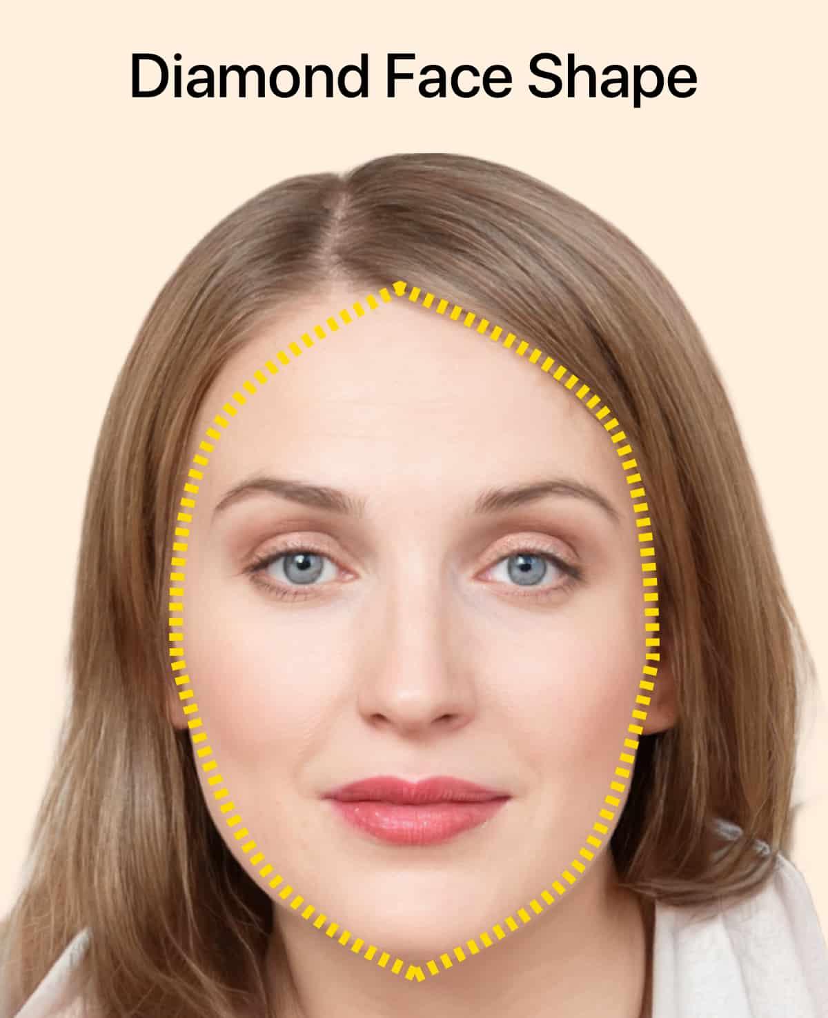 Diamond face shape for women