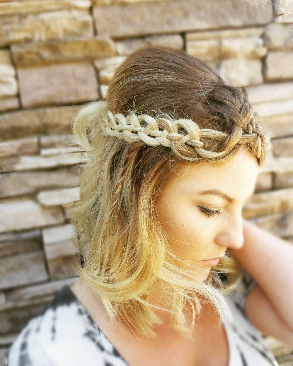 Dimensional Chain Braid hairstyle
