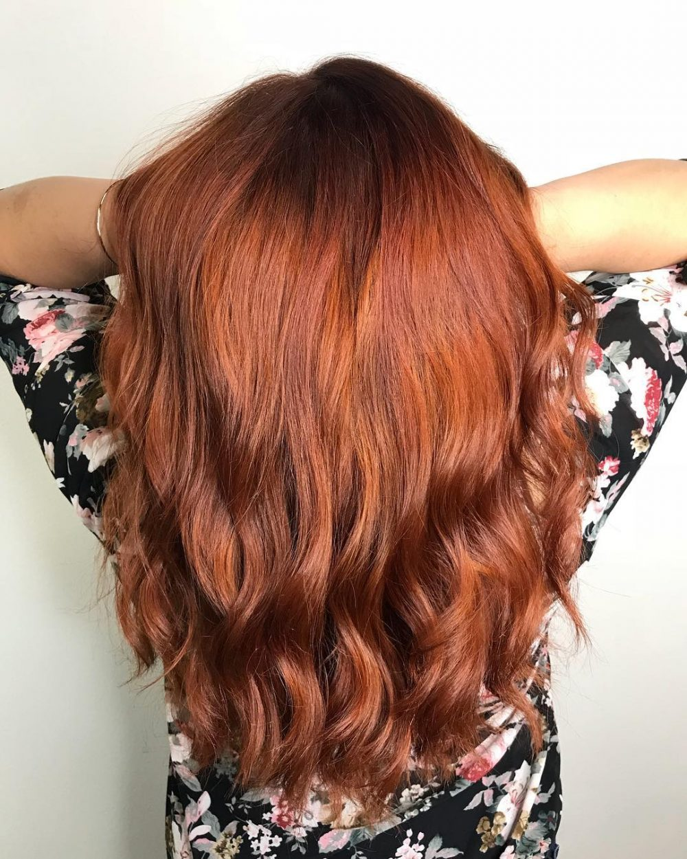 Dimensional Copper Waves hairstyle