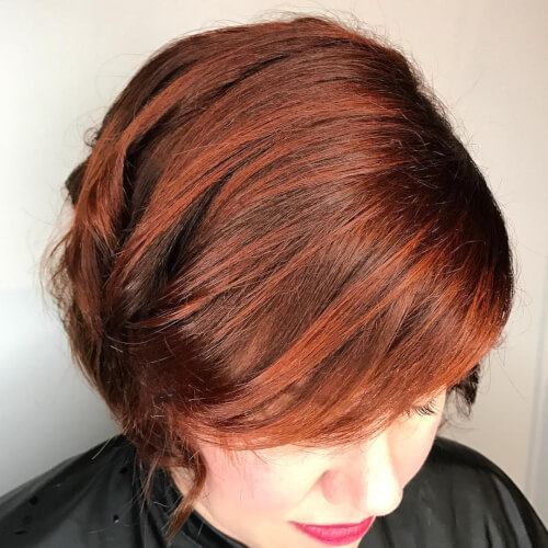 dimensional red auburn color