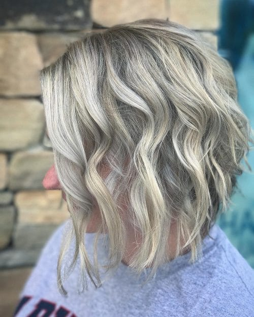 Dimensional Blonde Textured Waves hairstyle