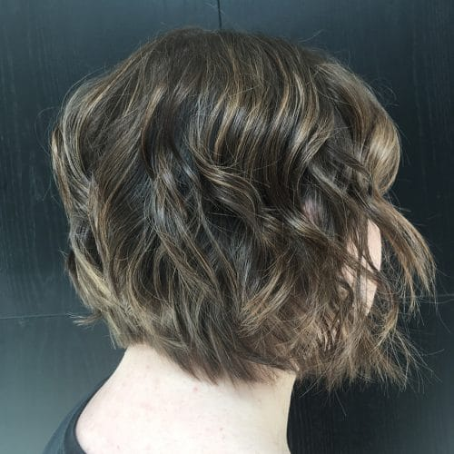 Dimensional Bob hairstyle