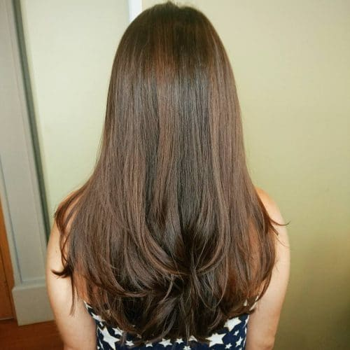 Pictures Of Chocolate Brown Hair With Blonde Highlights