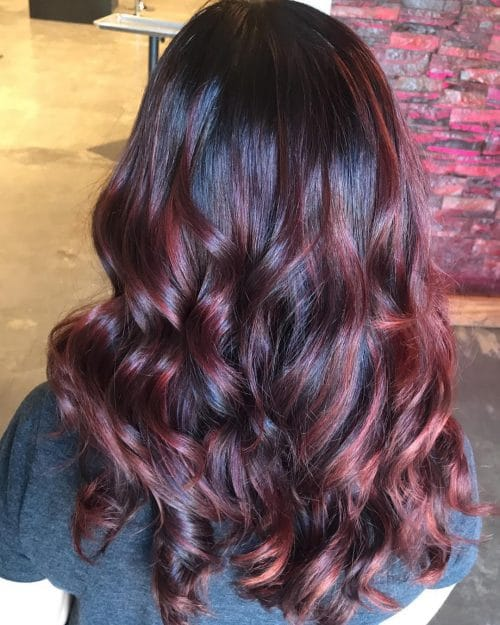 Dimensional Red Balayage hairstyle