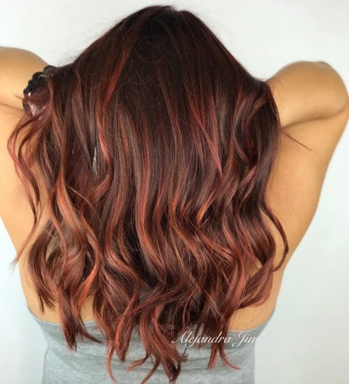 Dimensional Red Hair hairstyle
