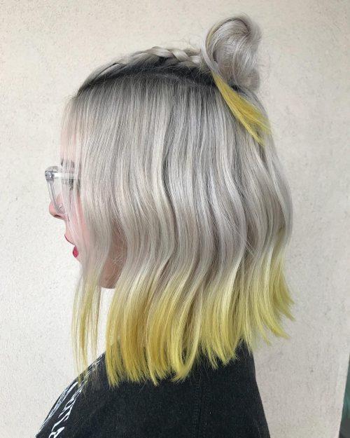 Dip dye highlights