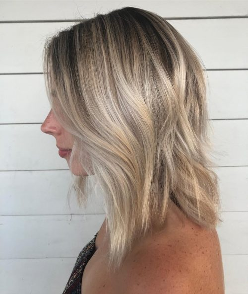 Dirty Ash Blonde On Shoulder Length Hair