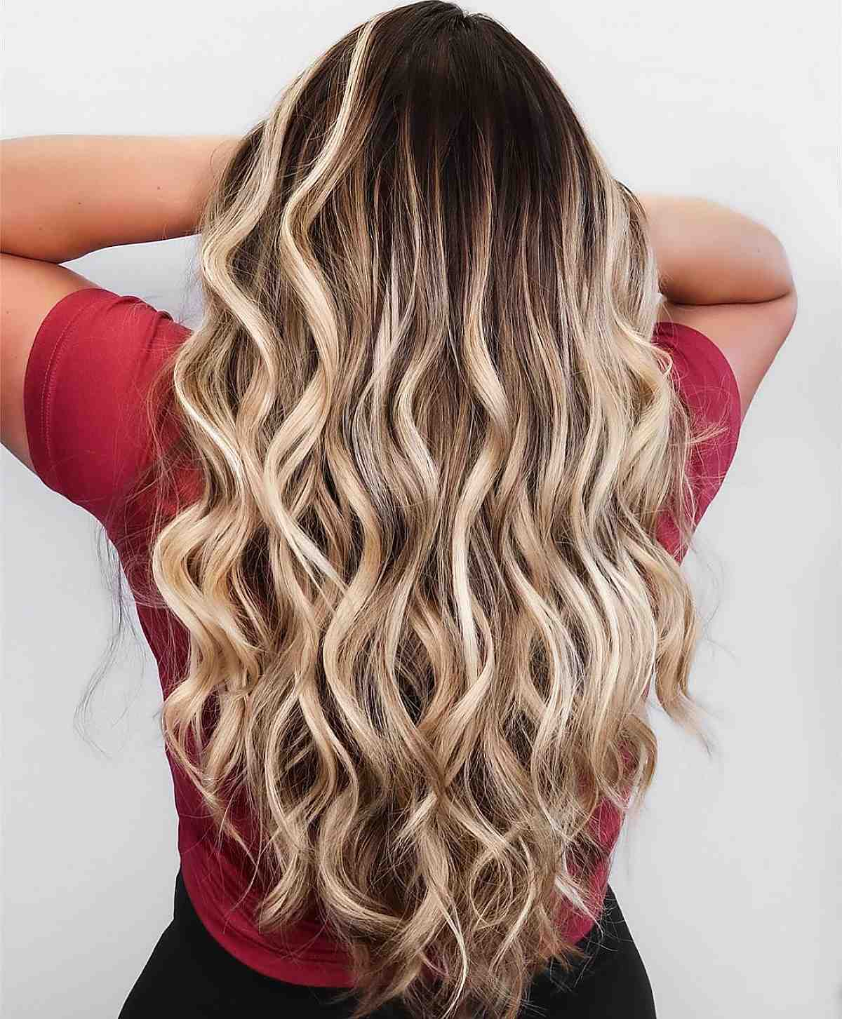 dirty blonde hair with balayage higlights