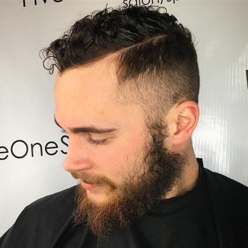 Desvanecimiento de corte sin conexión para cabello rizado